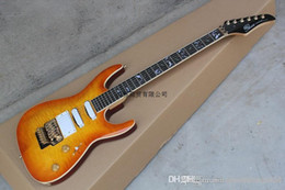 custom made electric guitars Australia - Free shipping Top quality Pensa custom orange electric guitar with golden hardware SSH pickups made in usa