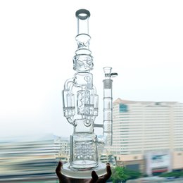 Rocket oil Rig online shopping - Big Bongs Water Pipes Rocket to Honeycomb Perc Recycler Bubbler Dab Oil Rigs inches Thick Beaker Bongs Functional Ice Catcher Hookahs