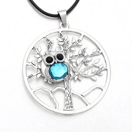 Discount owl snap button - Fashion Snaps Jewelry 18mm & 12mm Owl Tree of life DIY Snap Button Necklace For Women Charms Gift