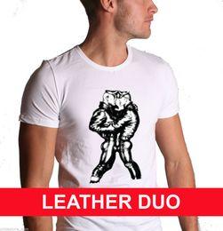 Venta al por mayor de Tom of Finland Gay Cuero Fetish Homoerotic Art Muscle Camiseta hombre Pride denim clothes camiseta