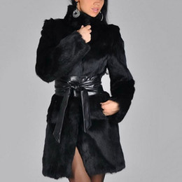 Fur collar jacket slim waist online shopping - XIKOI New Women Faux Fur Coat Winter Warm Fluffy Jacket Turn down Collar Thicken Warm Soft Fur Jackets Hairy Outerwear Overcoat