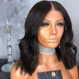 $enCountryForm.capitalKeyWord Australia - Hot Sale Short Wave Lace front and Full lace Wig Brazilian Human hair Wigs With Bbay Hair Natural Color For Black Women