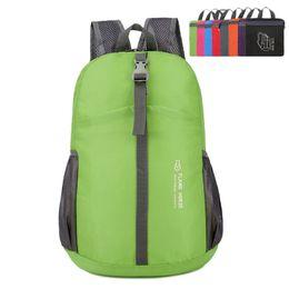 04183551205 New Lightweight Foldable Storage Waterproof Nylon Backpack Women And Men  Children Ultralight Travel Shopping Bags