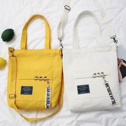 $enCountryForm.capitalKeyWord Australia - Letter Printed Canvas Handbag 2 Colors Women Totes Shopping Bags Crossbody Canvas Outdoor Shoulder Bag Ooa5611