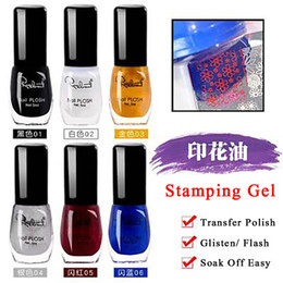17 gold UK - 1 Bottle Stamp polish Nail Polish & Stamp Plate Printing Nail Art 17 colors Optional Stamping Gel Nails Lacquer