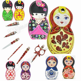 $enCountryForm.capitalKeyWord Australia - Hot Cartoon Nail Clipper Japanese dolls Nail Tools Kit 6pcs set Stainless Steel Scissors Manicure Tools Nail Manicure Set Party Favor F0035
