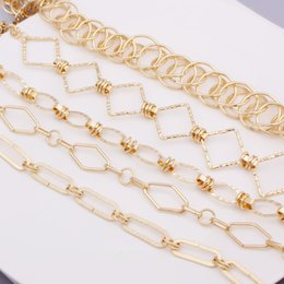 $enCountryForm.capitalKeyWord Australia - Fashion Link Chain Choker Necklace For Women Hip-hop Cuban Brake Chain Menswear Rock Band Men Charm Necklace Collares Jewelry