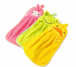 $enCountryForm.capitalKeyWord Australia - New Housekeeping Candy Colors Soft Coral Velvet Cartoon Animal Towel Can Be Hung Kitchen Cleaning Use