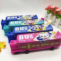 $enCountryForm.capitalKeyWord Australia - Factory directly export fashion pencil cases animal pattern Thomas train cartoon toy pen boxes double layers with pencil sharpener 01