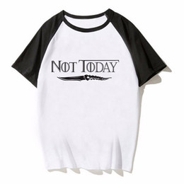 $enCountryForm.capitalKeyWord UK - T-Shirt Arya Stark Not Today T Shirt Summer Man Cool Fashion Design Crewneck Tee Shirt