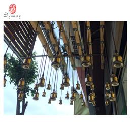 Discount meter holder - Vintage E27 Holder Old School Hanging Pendant Lights Holder With 1 Meter Wire Brass Copper Base Restaurant Pub Bar Filam
