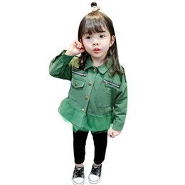Baby Girls Spring Jackets Australia - Newly Baby Clothes Blouse Style Coat Spring Kids Girl Coats Solid Causal Baby Girl Jacket Autumn