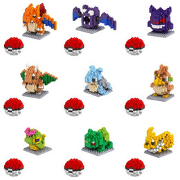anime puzzles Australia - 1pcs Small particles blocks 20 Models Figures Diamond Elf Ball Building Blocks Toys Christmas Gifts Anime Puzzle crea tive po kemon elves