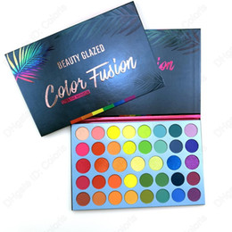high pigment palette Canada - Makeup Eyeshadow Color Fusion 40 Colors Palette Over the Rainbow High Pigment Eye Shadow Easy to Blend
