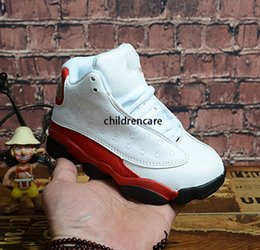 boys basketball shoes UK - Kids Basketball Shoes Youth Children's Athletic 13 Sports Shoes for Boy Girls Shoes Free Shipping size:28-35