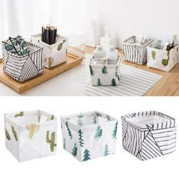 White Toy Organizer Australia - Hot Sale Storage Bin Closet Toy Box Container Organizer Fabric Basket Linen Basket Portable Desk Storage Boxes