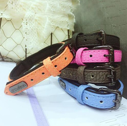 Discount soft leather dog collars - 2019 Amazon Best Sellers PU Leather Dog Collars Neoprene Padded Soft Pet Cat Collar with D ring