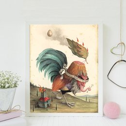 $enCountryForm.capitalKeyWord Australia - The Abstra Chicken By Mark Ryden Canvas Painting Wall Picture Poster And Print Decorative Home Decor