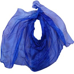 veil green NZ - 100% real silk belly dance veil, cheap dance veils,tari perut kostum veil wholesale factory price, 250 or 270*114 cm Blue