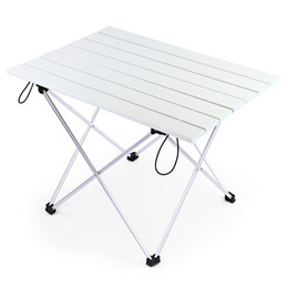 Camp Bedding NZ - Portable Foldable Table Camping Outdoor Furniture Computer Bed Tables Picnic 6061 Aluminium Alloy Ultra Light Folding Desk large size