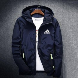 $enCountryForm.capitalKeyWord UK - Autumn Mens Jackets Coat Brand Designer Hooded Jacket With Logo Windbreaker Zipper Hoodies For Men Sportwear Plus Size Clothing