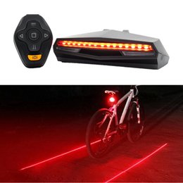 $enCountryForm.capitalKeyWord Australia - laser tail light Bicycle Wireless Remote control Bike Rear LED Taillight Accessories Cycling Safety Steering warning Light Back Lamp