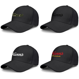 drinking hat beer Australia - Hamms beer products stein logo Men Women Adjustable Snapback Hats Youth Fishing Caps sign for sale Original drink black camouflage les