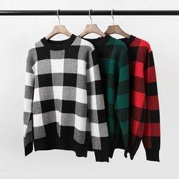 2019 Luxus Designer Kleidung Herbst und Winter Box Gitter Pullover Pullover Mode Frauen Casual Pullover mit 3 Farben im Angebot