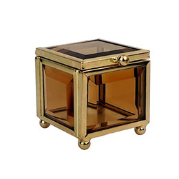 Plant Pouch online shopping - Geometrical Gold Glass Jewelry Box Jewelry Organize Holder Plants Container