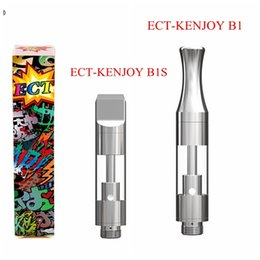 Discount ect atomizer - Authentic ECT-KENJOY B1 B1S Dab Pen Wax Vaporizer 1ml Ceramic Empty Vape Pen 510 Cartridges Ecigarette Atomizer Glass Th
