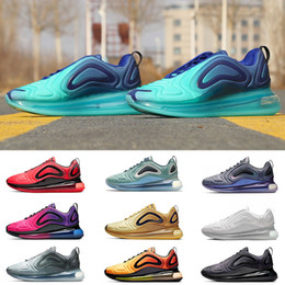 cd4f8cab Nike 720 air max 720 airmax Nueva llegada zapatillas de running para hombre  mujer Plata Metálica triple negro CARBON GRIS PUESTA DEL SOL Zapatillas ...