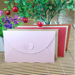 $enCountryForm.capitalKeyWord Australia - Wholesale-10 pcs lot Fashion Retro Heart Shape Vintage Romantic Paper Envelop Gift For Wedding Invitation Card Stationery Free Shipping