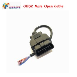 obd connectors Australia - Best OBDII 16Pin Extension Opening Male Cable Stable & Good OBD2 Car Diagnostic Interface Connector OBD Male Open Cable Adapter