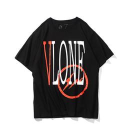 Oil shirt online shopping - 79s vlon street fashion brand retro oil painting graffiti arrow letter printing men and women T shirt lovers short sleeved sweater coat