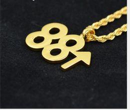 Amethyst Pendants For Men Australia - Euro-American hip-hop Pendant Necklace rich Brian Haier 88 rising digital pendant for men and women