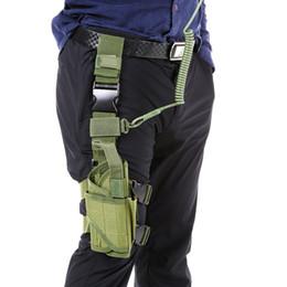 $enCountryForm.capitalKeyWord Australia - Tactical Gun Drop Leg Thigh Holster Pouch Bag Outdoor Hunting Shooting Gear Wrap-around Holster Thigh Leg Gear with Coil Lanyard #343688