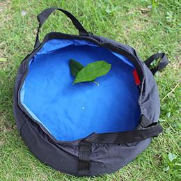 Discount sink bowls - Portable Outdoor Travel Foldable Camping Picnic Washbasin Bucket Bowl Sink Washing Bag Waterproof Collapsible Fishing Co