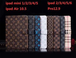 Klasik Monogram Deri Flip Case Apple iPad Için Pro 12.9