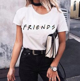 a12ad3a91c9c 2019 Friends Letters Women t shirts Tees Dots Plus size Short sleeve Summer  All-matched Women clothing Black Grey white XS-4XL Plus size DHL