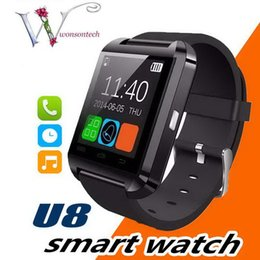 smart watch compatible samsung s5 NZ - Bluetooth Smartwatch U8 Smart Watch Phone Mate Wrist Touch Watches for iPhone 4S 5 5S Samsung S4 S5 Note 2 3 HTC Android Phone Smartphone