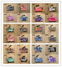 Designs wallets for girls online shopping - Brand VB Cotton Zip ID Case with Lanyard Retro Flora Wallet Design Coin Purse For Women Girls Card Holder Slot Credit Bus Card Cases C103107