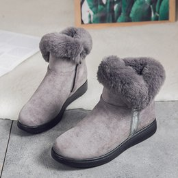 Snow boot inSoleS online shopping - Puimentiua women snow boots short plush Ankle Snow Boots Female Warm Plush Insole Botas Mujer Plus Size Winter Shoes Women