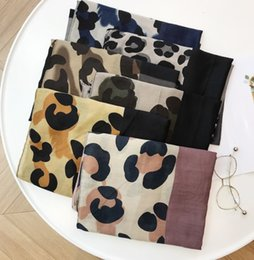 $enCountryForm.capitalKeyWord Australia - 2019 casual casual wind scarf female winter Korean version of leopard color block stitching cotton and linen shawl dual-use