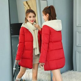 48ff26d1f7614 Cotton-padded Women s Mid-long New Korean Version Loose and Slim Lamb Hair  Student Bread Clothes Thickened Cotton Coat Moisture