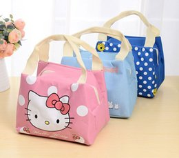 lunch box cartoons Australia - Cute cartoon double insulated lunchbox bag lunch box handbag lancheira escolar infantil lonchera loncheras