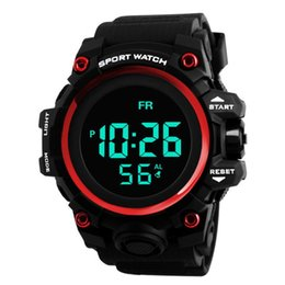 plastic army men UK - HONHX Men's Clock Sport Digital LED Waterproof Wrist Watch Men Analog Digital Army Stylish Mens Electronic #Zer