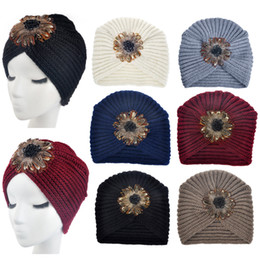 Chinese  Fashion Women Knitting Hat Casual Wool Female Sweater Warm Turban Beanie Lady Soft Crochet Headwrap Cap manufacturers