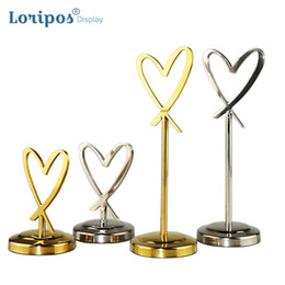 Sign holder clip online shopping - Stainless Steel Metal Clip Table Sign Wedding Guest Name Card Clip Restaurant Creative Number Plate Bracket Conference Card Seat