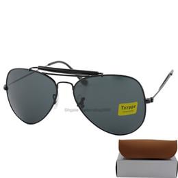 Sun Glasses Designer Hot Women NZ - Hot sell 10pcs Best Quality Txrppr Designer Pilot Sunglasses Men Womens Outdoorsman men women Sun Glasses Eyewear 62mm Glass Lenses With Box