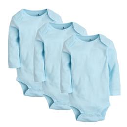 $enCountryForm.capitalKeyWord Australia - 3pcs set Baby Girls Bodysuits 100% Cotton Newborn Long Sleeve Body Clothing Infant Jumpsuits Toddler Clothes Baby Boys Bodysuit Y19061201